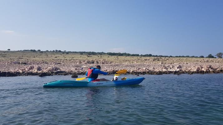 Kayak de mer-Krk-Kayak de mer de l'îlot de Saint-Marc et du pont de Krk-4