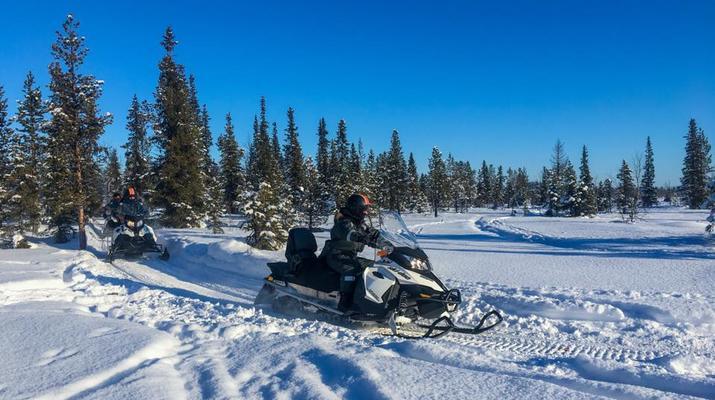 Motoneige-Kiruna-Excursion en motoneige l'après-midi-3