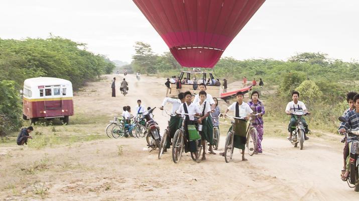 Hot Air Ballooning-Bagan-Hot air balloon flight over Bagan-3