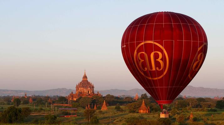 Hot Air Ballooning-Bagan-Hot air balloon flight over Bagan-5