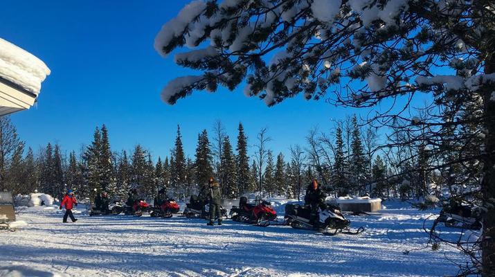 Motoneige-Kiruna-Excursion en motoneige l'après-midi-5