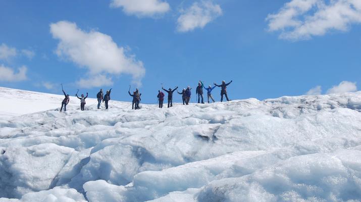 Randonnée glaciaire-Jondal-Randonnée sur glace bleue sur le glacier Juklavass-3