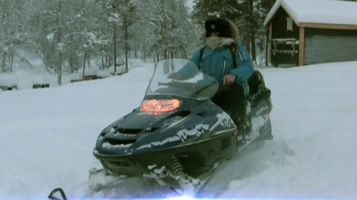 Snowmobiling-Kiruna-Overnight Aurora Hunter Snowmobile Adventure, near Kiruna-2