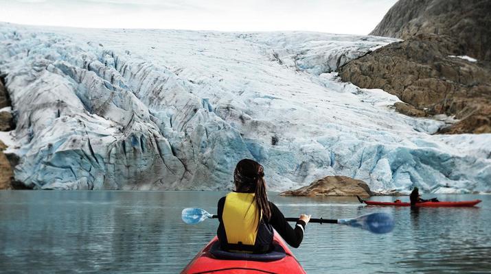 Senderismo en Hielo-Rosendal-Glaicer kayak en el glaciar Møsevass-1