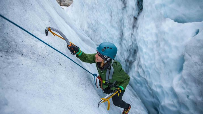 Randonnée glaciaire-Jondal-Randonnée sur glace bleue sur le glacier Juklavass-2
