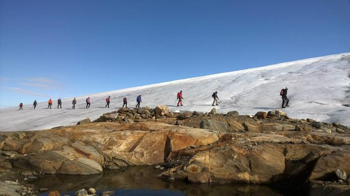 Senderismo en Hielo-Rosendal-Glaicer kayak en el glaciar Møsevass-2