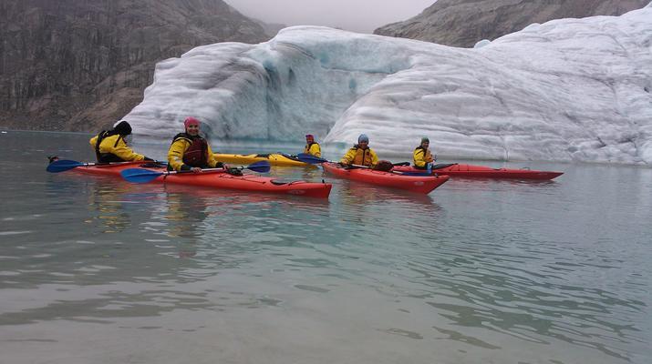 Senderismo en Hielo-Rosendal-Glaicer kayak en el glaciar Møsevass-3