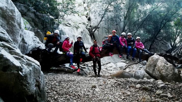 Canyoning-Mallorque-Descente en canyoning de la Muntanya dans la Serra de Tramuntana, Majorque-4