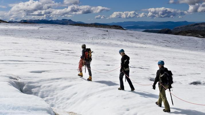 Randonnée glaciaire-Jondal-Randonnée sur glace bleue sur le glacier Juklavass-7