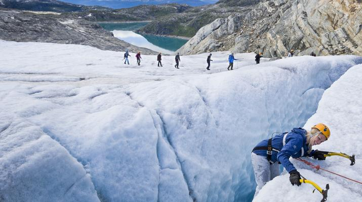 Randonnée glaciaire-Jondal-Randonnée sur glace bleue sur le glacier Juklavass-6