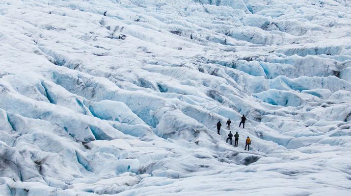 Randonnée glaciaire-Jondal-Randonnée sur glace bleue sur le glacier Juklavass-4