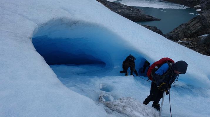 Senderismo en Hielo-Rosendal-Glaicer kayak en el glaciar Møsevass-4