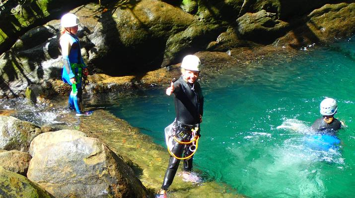 Canyoning-La Soufrière-Ti-canyon à Basse-Terre, Guadeloupe-1