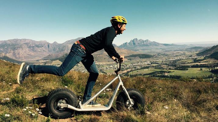 Trottinette-Stellenbosch-Excursion en scooter dans la réserve naturelle de Jonkershoek-1