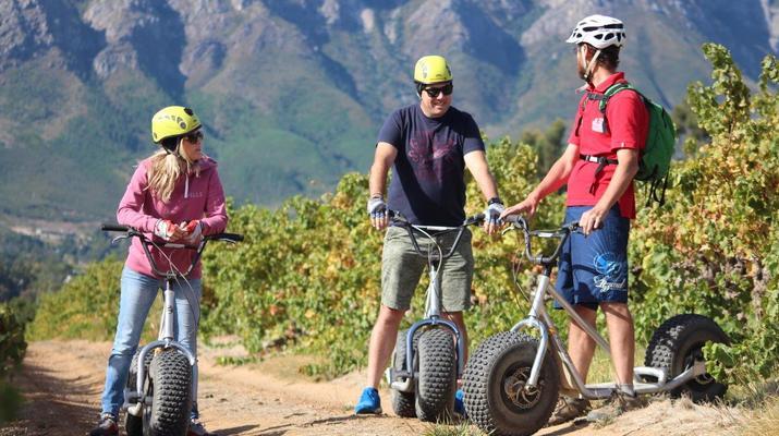 Trottinette-Stellenbosch-Excursion en scooter dans la réserve naturelle de Jonkershoek-5