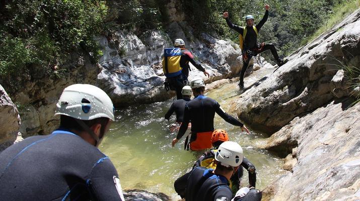 Canyoning-Lake Garda-Extreme Canyoning Tour in Vione Canyon near Lake Garda-5