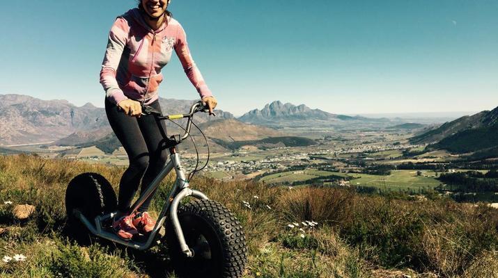 Trottinette-Stellenbosch-Excursion en scooter dans la réserve naturelle de Jonkershoek-3