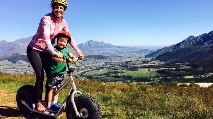 Trottinette-Stellenbosch-Excursion en scooter dans la réserve naturelle de Jonkershoek-4