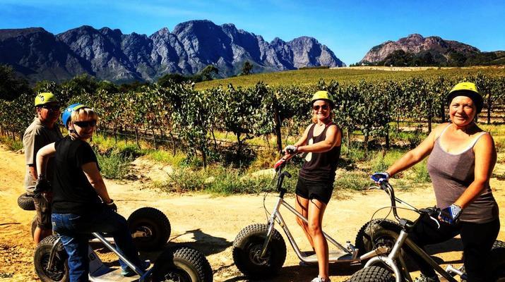 Trottinette-Stellenbosch-Excursion en scooter dans la réserve naturelle de Jonkershoek-6