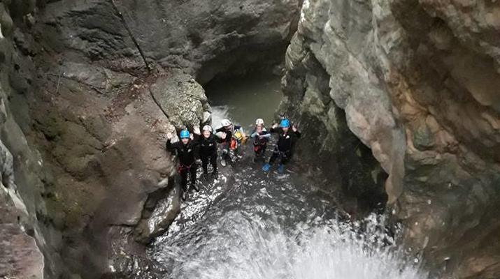 Canyoning-Lake Garda-Intermediate Canyoning Tour in Brescia near Lake Garda-6