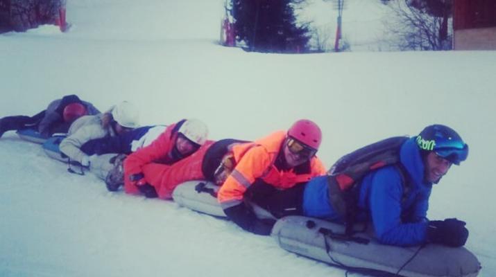 Experiencias en la nieve-Val Cenis, Haute Maurienne-Sesión de Airboard en Val Cenis, Macizo de la Vanoise-1