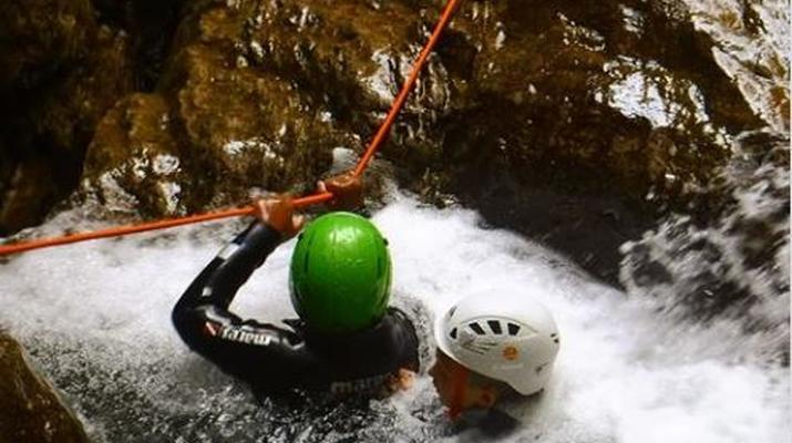 Canyoning-Lake Garda-Intermediate Canyoning Tour in Brescia near Lake Garda-5