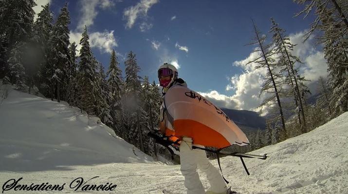 Experiencias en la nieve-Val Cenis, Haute Maurienne-Alquiler de saltos en ala en Val Cenis, Macizo de la Vanoise-3