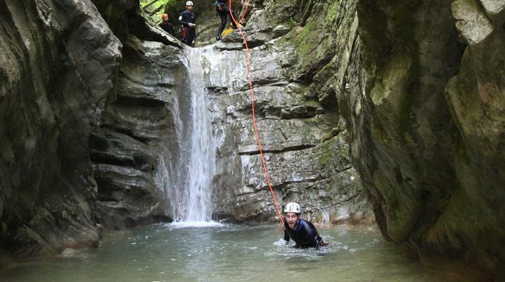 Canyoning-Lake Garda-Intermediate Canyoning Tour in Brescia near Lake Garda-3