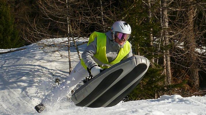 Experiencias en la nieve-Val Cenis, Haute Maurienne-Sesión de Airboard en Val Cenis, Macizo de la Vanoise-2