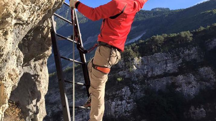 Via Ferrata-Cortina d'Ampezzo-Via Ferrata familiale sur la tour Ra Pegna dans les Dolomites près de Cortina d'Ampezzo-2