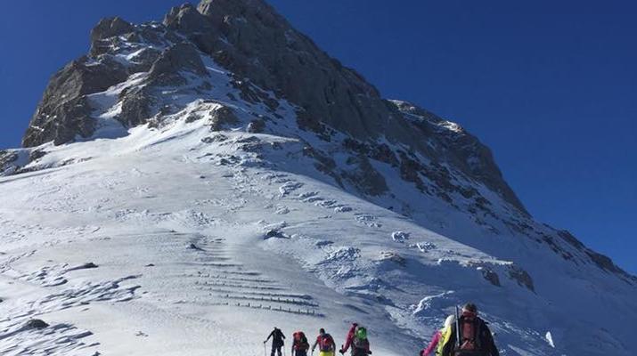 Ski touring-Lake Garda-Sunset Ski Mountaineering on Mount Baldo near Lake Garda-4
