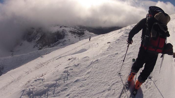 Ski touring-Lake Garda-Sunset Ski Mountaineering on Mount Baldo near Lake Garda-6