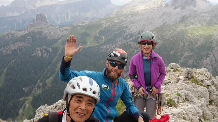 Via Ferrata-Cortina d'Ampezzo-Via Ferrata Col dei Bos dans les Dolomites près de Cortina d'Ampezzo-2