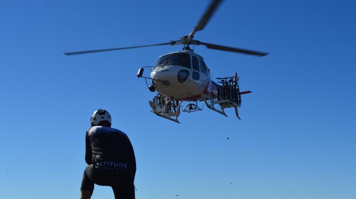 VTT-Huesca-Hélicoptère à Sierra Negra-2