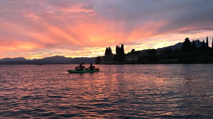 Kayaking-Lake Garda-Sunset Canoeing Trip in Lake Garda-5