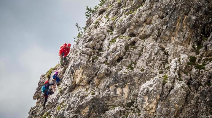 Via Ferrata-Cortina d'Ampezzo-Via Ferrata familiale sur la tour Ra Pegna dans les Dolomites près de Cortina d'Ampezzo-1