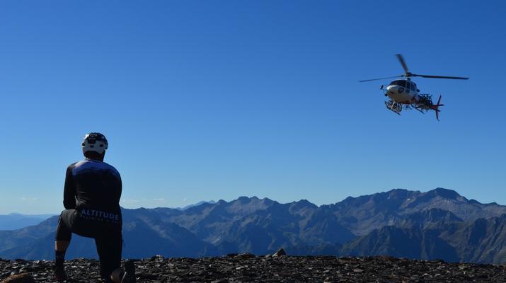 VTT-Huesca-Hélicoptère à Sierra Negra-3