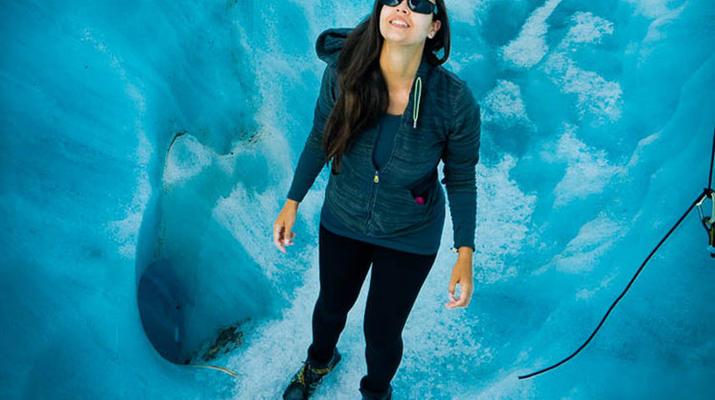 Glacier hiking-Aoraki / Mount Cook-Heli Hike on Tasman Glacier-3