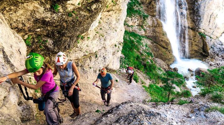 Via Ferrata-Cortina d'Ampezzo-Via Ferrata dans les cascades de Fanes près de Cortina d'Ampezzo-1