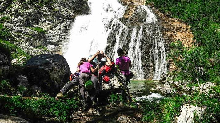 Via Ferrata-Cortina d'Ampezzo-Via Ferrata dans les cascades de Fanes près de Cortina d'Ampezzo-2