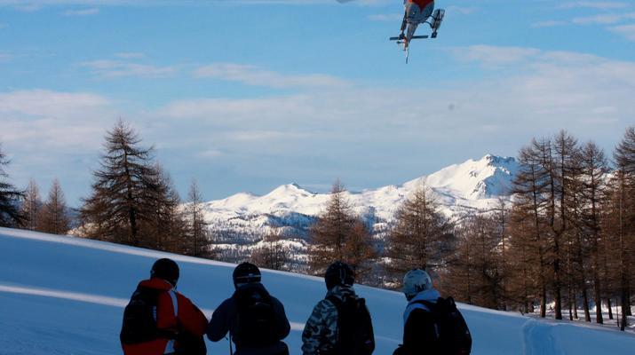 Heliesquí-Serre Chevalier-Excursión de medio día de heliesquí desde Serre Chevalier-3