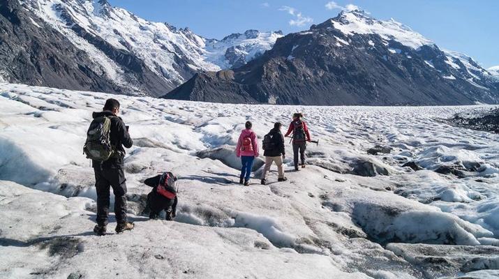 Glacier hiking-Aoraki / Mount Cook-Heli Hike on Tasman Glacier-1