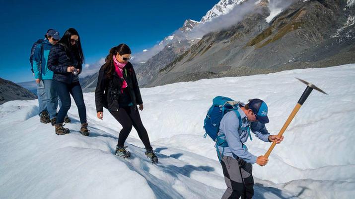 Glacier hiking-Aoraki / Mount Cook-Heli Hike on Tasman Glacier-4