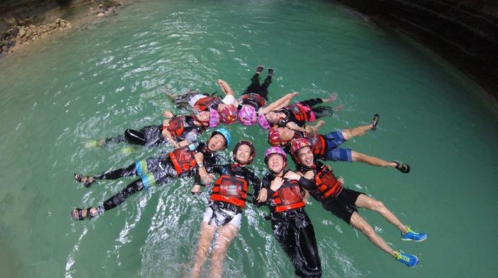 Canyoning-Cebu-Kawasan Falls & Moalboal Island Private Tour Package-6