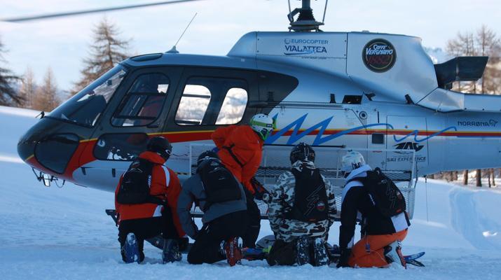 Heliesquí-Serre Chevalier-Excursión de medio día de heliesquí desde Serre Chevalier-5