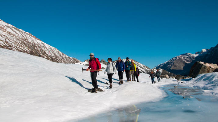 Glacier hiking-Aoraki / Mount Cook-Heli Hike on Tasman Glacier-5