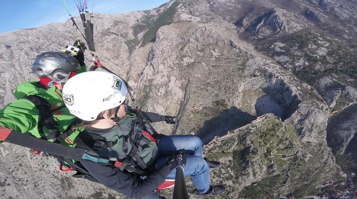 Paragliding-Budva-Tandem paragliding flight in the Kotor Bay, Montenegro-1