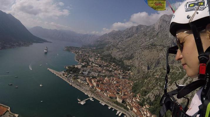 Paragliding-Budva-Tandem paragliding flight in the Kotor Bay, Montenegro-5