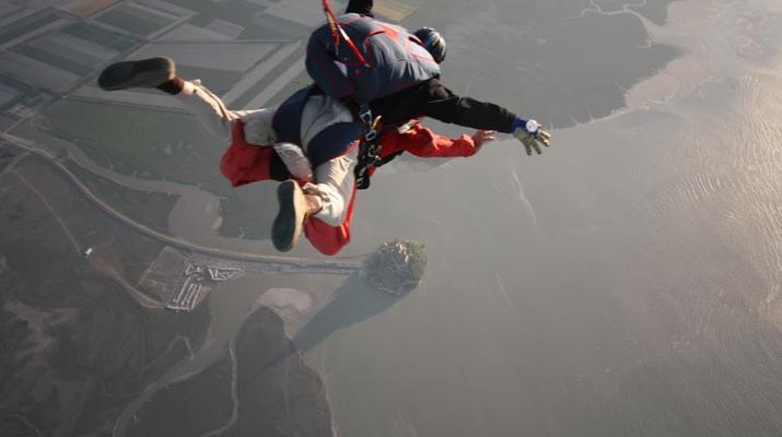 Parachutisme-Le Mont-Saint-Michel-Saut en Parachute Tandem au Mont-Saint-Michel depuis Le Val-Saint-Père-3