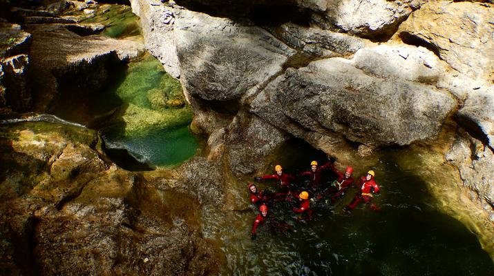 Canyoning-Salzbourg-Canyoning dans la gorge de Strubklamm près de Salzbourg, en Autriche-4